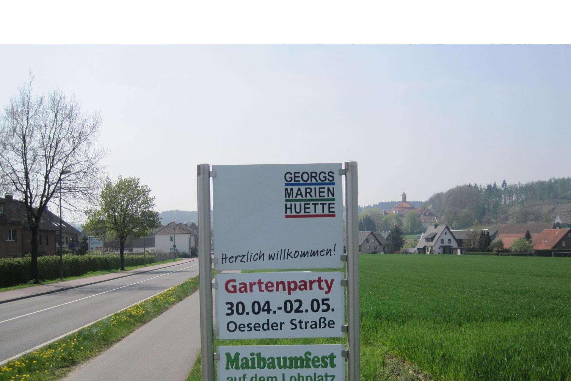 SMG 2014 Willkommenschild